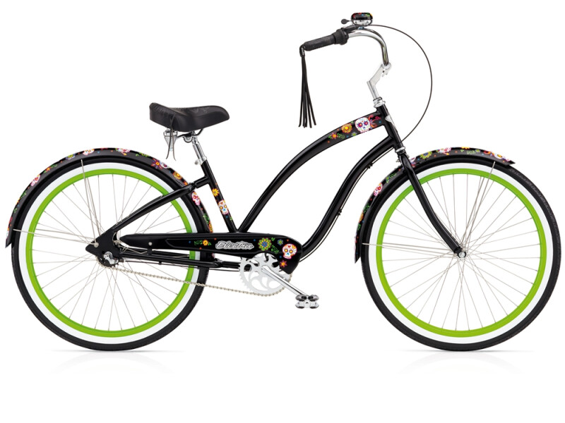 Electra Bicycle Sugar Skulls black ladies'