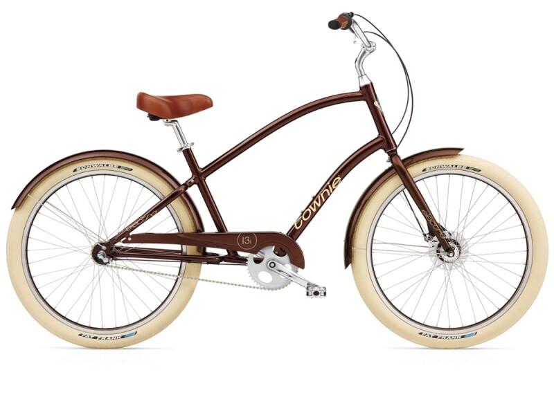 Electra Bicycle Townie Balloon 3i brown metallic mens'