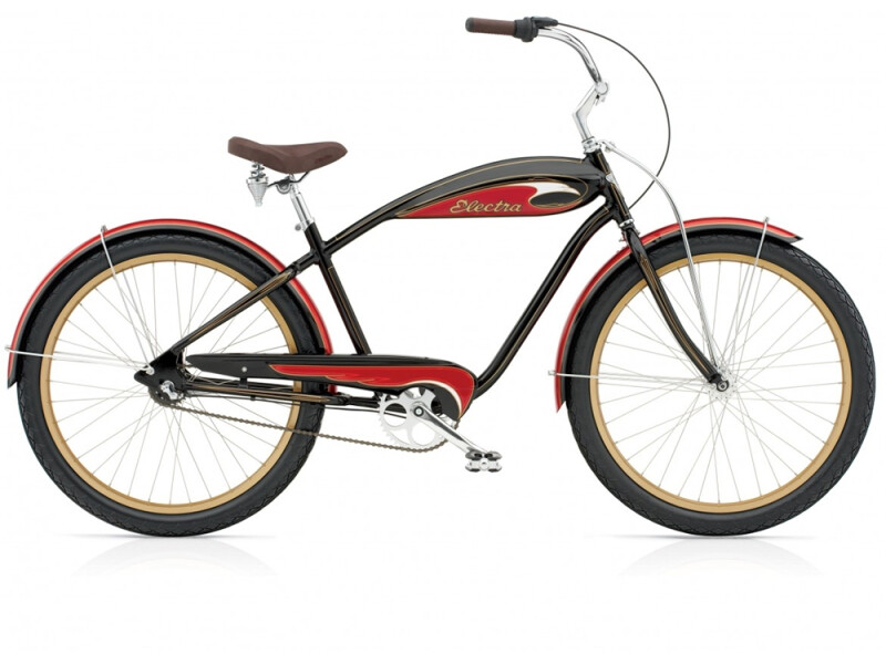 Electra Bicycle Mulholand 3i (Alloy) black/red men's