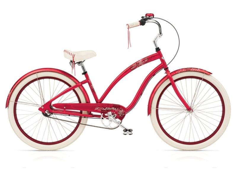 Electra Bicycle Fleur 7i raspbeery ladies'