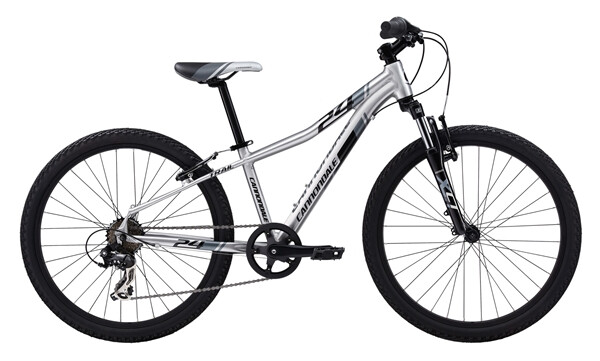 "CANNONDALE - BOY'S 24"" TRAIL 7 SPEED brushed"