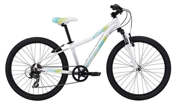 "CANNONDALE - GIRL'S 24"" TRAIL 7 SPEED white"