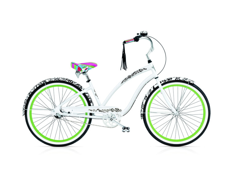 Electra Bicycle Blanc et Noir 3i ladies