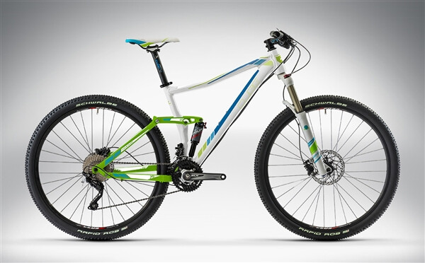CUBE - STING WLS 120 PRO 27.5 / 29 white'n'green'n'blue