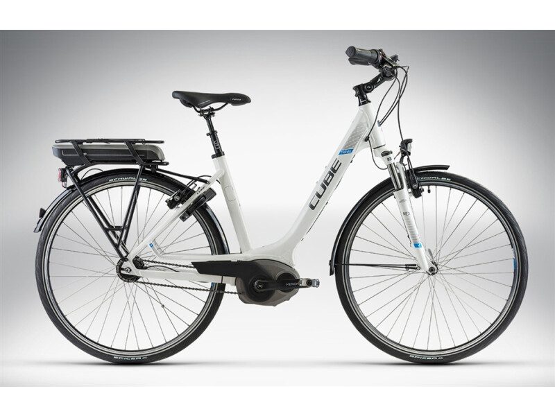 Cube TRAVEL HYBRID white anthrazit blue