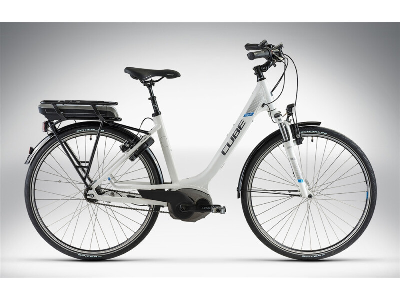Cube TRAVEL HYBRID RT white anthrazit blue