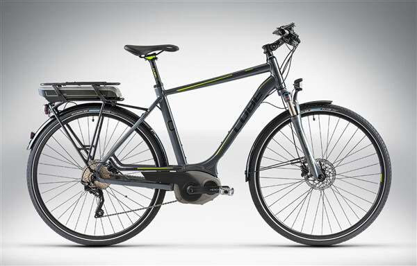 CUBE - TOURING HYBRID anthrazit black green Man