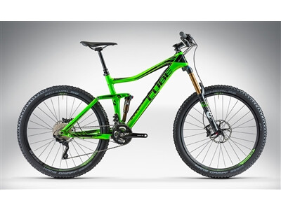 Cube STEREO 160 SUPER HPC SL 27.5 green'n'black