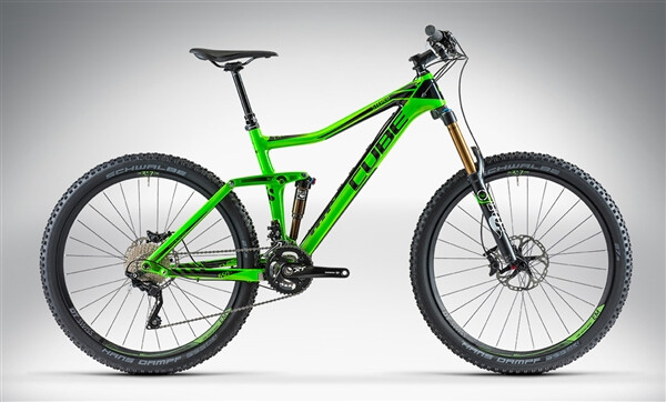 CUBE - STEREO 160 SUPER HPC SL 27.5 green'n'black