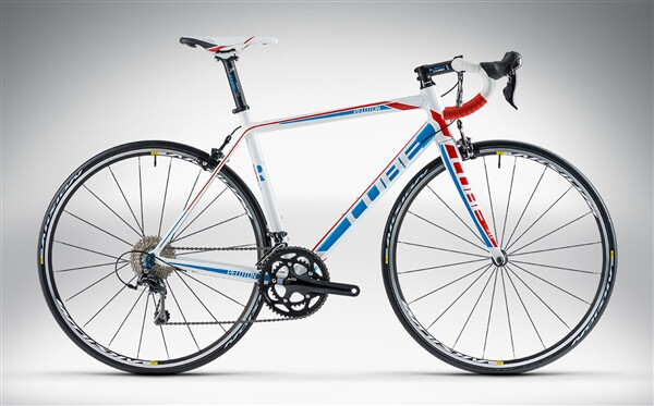 CUBE - PELOTON RACE white'n'blue'n'red