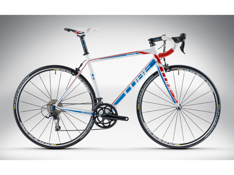 Cube PELOTON RACE white'n'blue'n'red