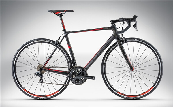 CUBE - AGREE GTC SLT Di2 carbon'n'flashred
