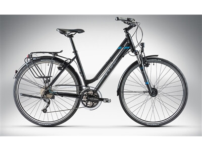 Cube TOURING Black Grey Blue Lady