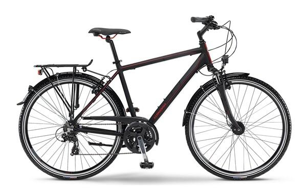 WINORA - Santiago schwarz/grau/rot matt
