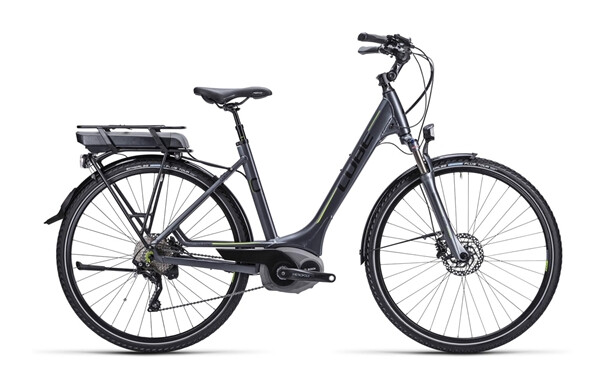 CUBE - Touring Hybrid anthrazit black green / Easy Entry