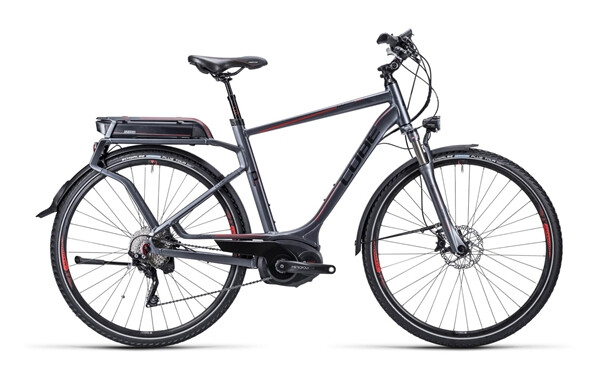 CUBE - Touring Hybrid Pro anthrazit black red