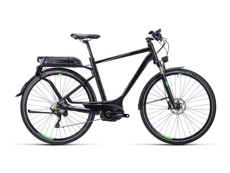 Cube Touring Hybrid SL black green