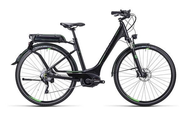 CUBE - Touring Hybrid SL black green / Easy Entry