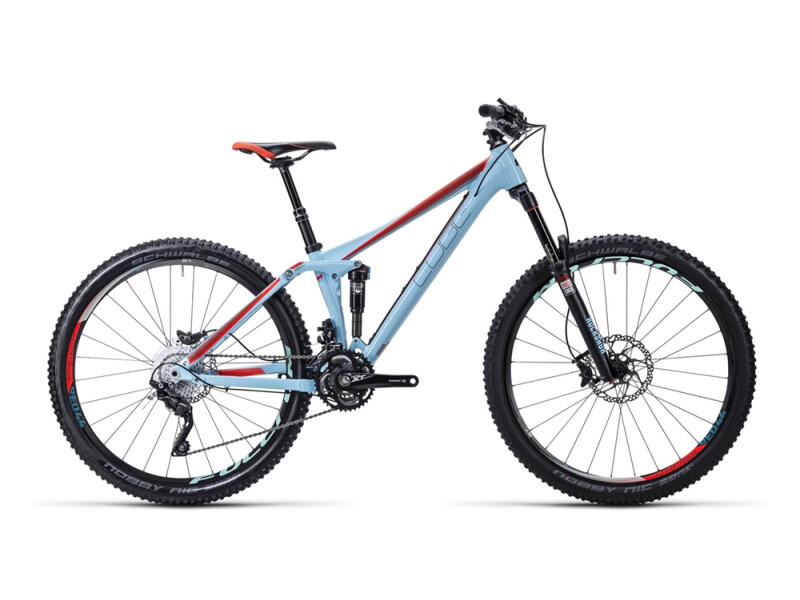 Cube Sting WLS 140 SL powderblue´n´flashred