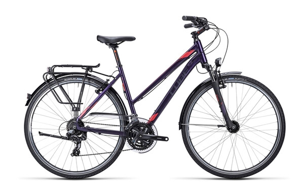 CUBE - Touring dark purple flashred / Trapeze