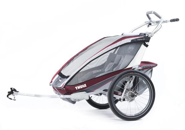 THULE CHARIOT - Chariot CX 2 burgundrot/grau