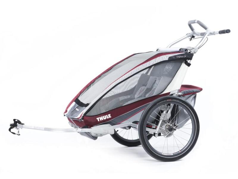 Thule Chariot Chariot CX 2 burgundrot/grau