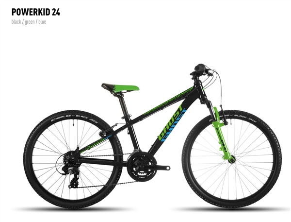GHOST - Powerkid 24 black-green-blue