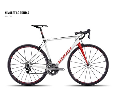 Ghost - NIVOLET LC TOUR 6 white/red Angebot
