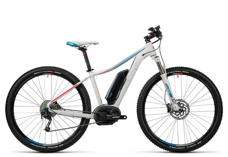 Cube Access WLS Hybrid Pro 400 white´n´blue´n´flashred E-Bike