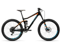 CUBE - Stereo 160 C:62 SL 27.5 carbon´n´flashorange