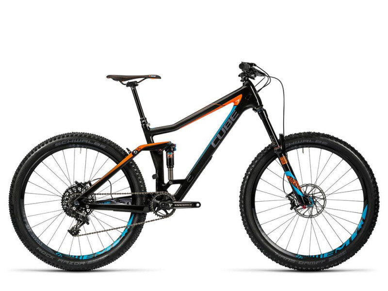 Cube Stereo 160 C:62 SL 27.5 carbon´n´flashorange