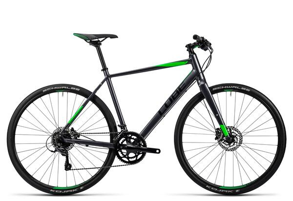 CUBE - SL Road Pro grey black flashgreen