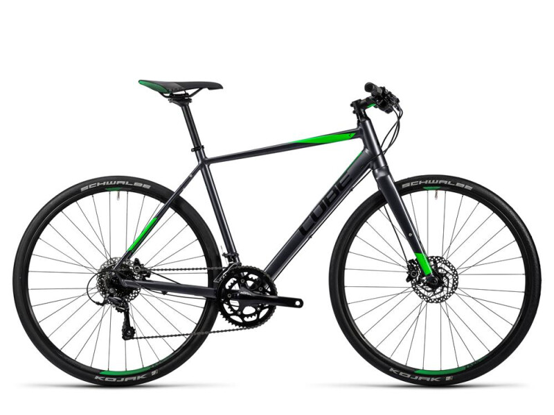 Cube SL Road Pro grey black flashgreen