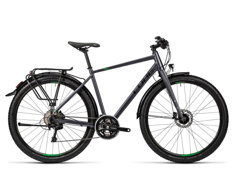 Cube Travel Exc grey black flashgreen