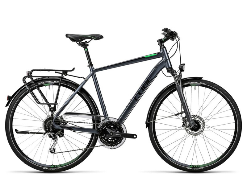 Cube Touring Exc grey black flashgreen