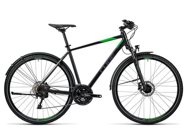 CUBE - Nature Allroad black flashgreen grey