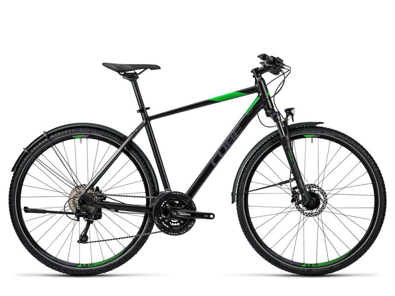 Cube Nature Allroad black flashgreen grey
