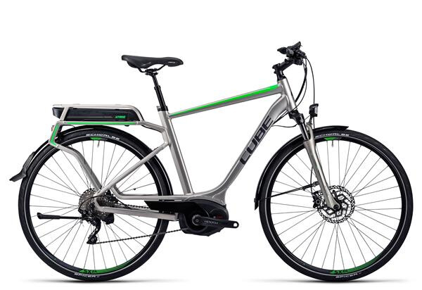 CUBE - Touring Hybrid Pro 400 silver´n´flashgreen