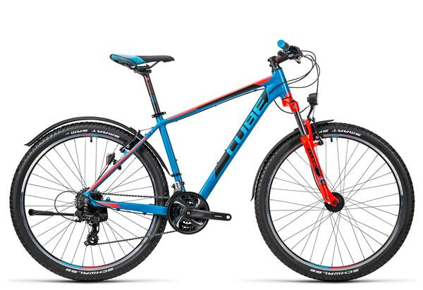 CUBE - Aim Allroad 27.5 caribbeanblue´n´flashred