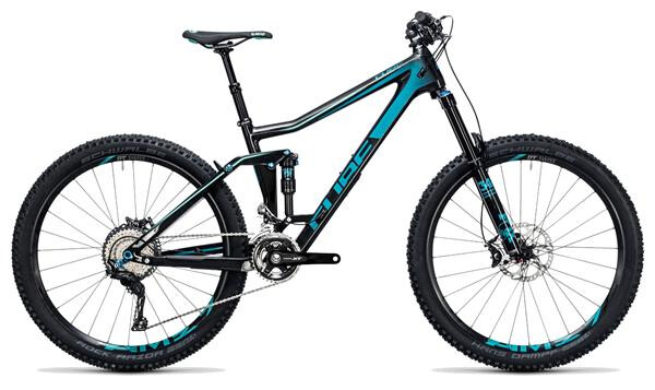 CUBE - Stereo 160 C:62 Race 27.5 carbon´n´blue