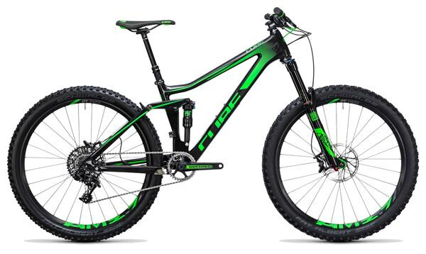 CUBE - Stereo 140 C:62 SL 27.5 carbon´n´green