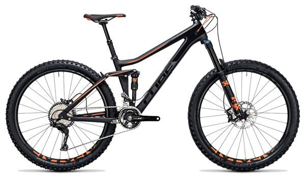 CUBE - Stereo 140 C:62 Race 27.5 carbon´n´flashorange