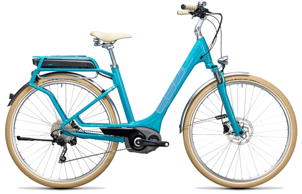 CUBE - Elly Ride Hybrid 500 blue´n´aqua
