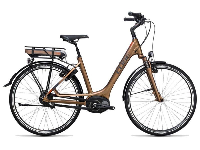 Cube Travel Hybrid 400 havanna brown´n´orange