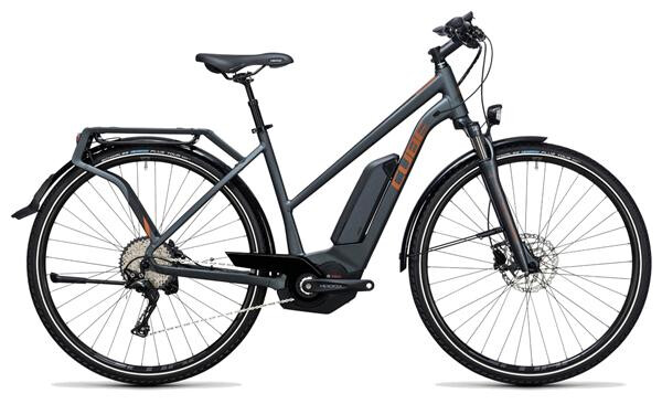CUBE - Touring Hybrid Exc 400 grey´n´copper