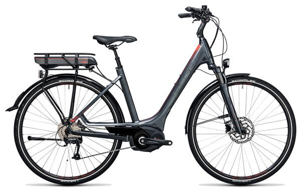 CUBE - Touring Hybrid 400 grey´n´flashred