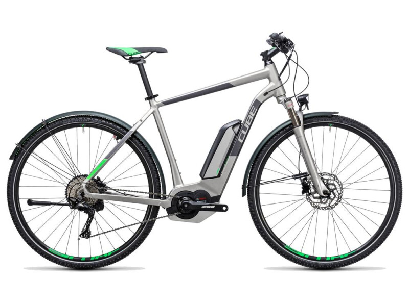 Cube Cross Hybrid Race Allroad 500 silver´n´green