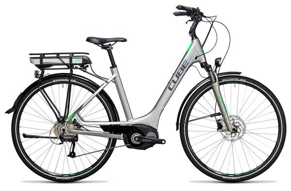 CUBE - Touring Hybrid ONE 500 silver´n´flashgreen
