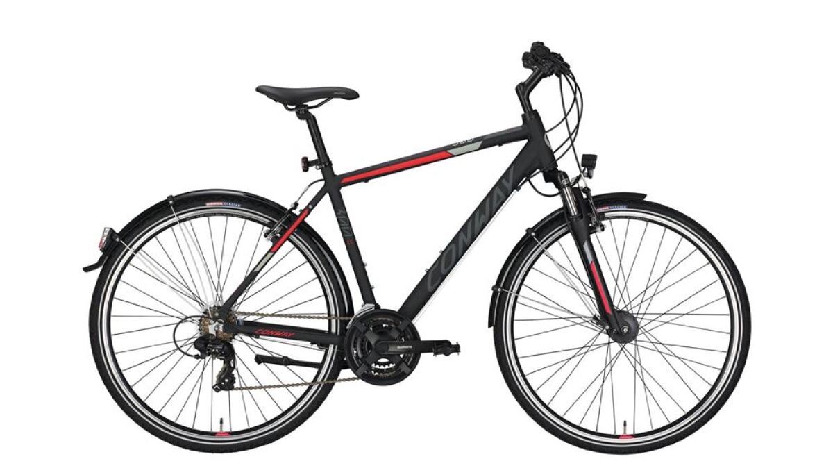 Conway CC 300 black matt/red -48 cm Details