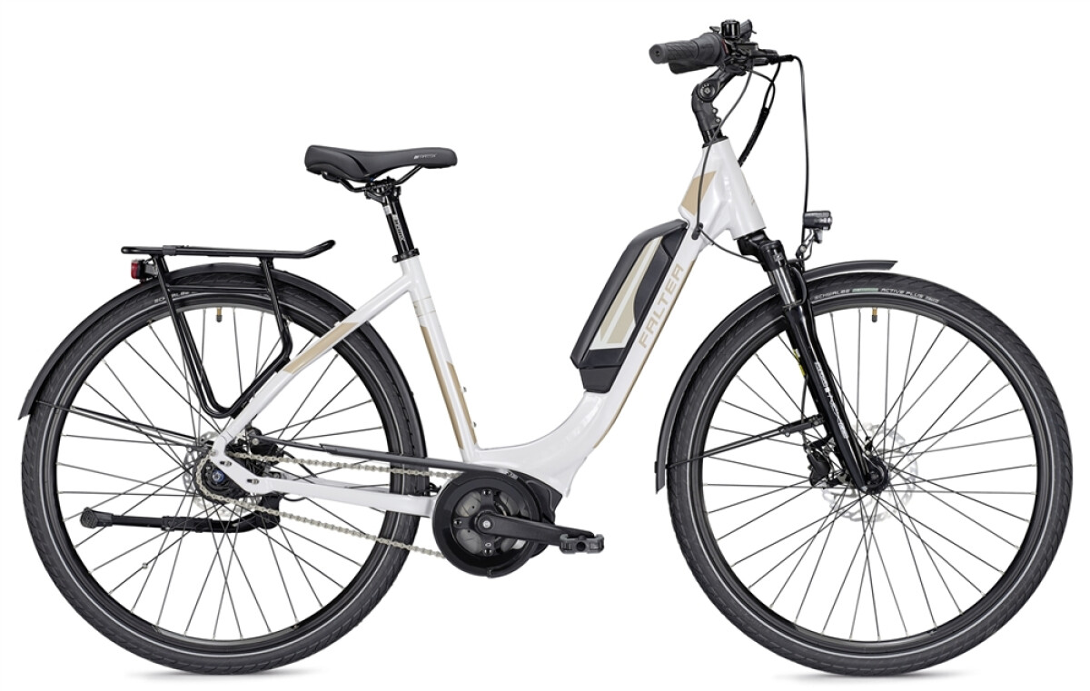 Falter E 9.0 RT 400 Wh Wave weiß/champagner Details